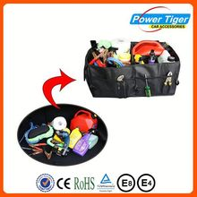 Foldbale durable and large capacity cargo organizer for car trunk