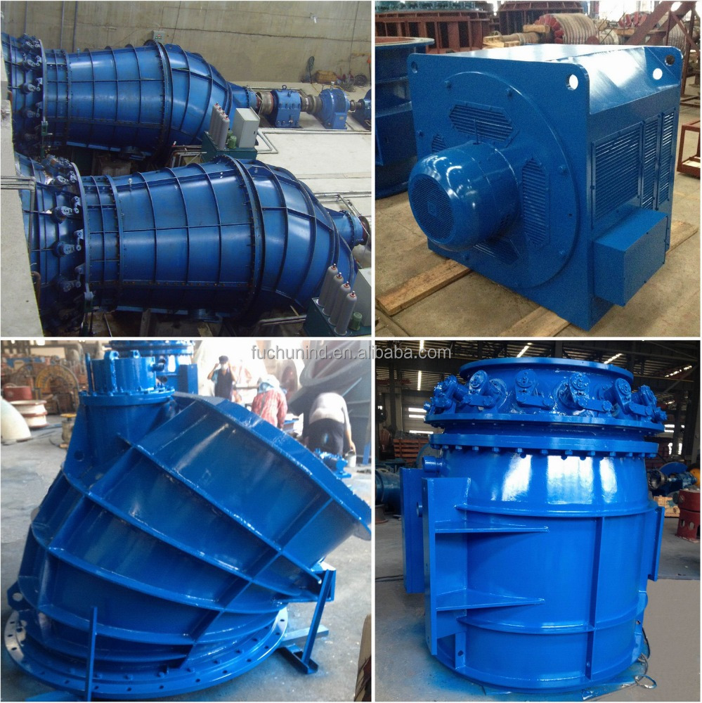 100kW~200kW Shaft-extension Tubular Water Turbine / Small Hydro Power Generator Price