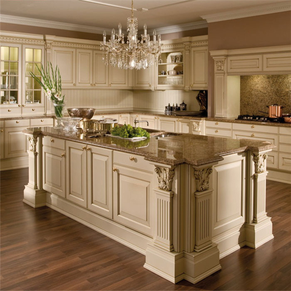 China Wooden Kitchen Cabinet with Kitchen Island