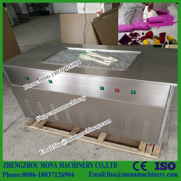 Quality assured Marble Cold Stone Fried Ice Cream Machine