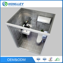 Guangzhou bathroom prefabricated module home with toilet, mobile home building materials
