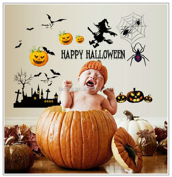 Volare Pipistrelli Streghe di Halloween Decalcomanie Della Parete Happy halloween Decor Sticker