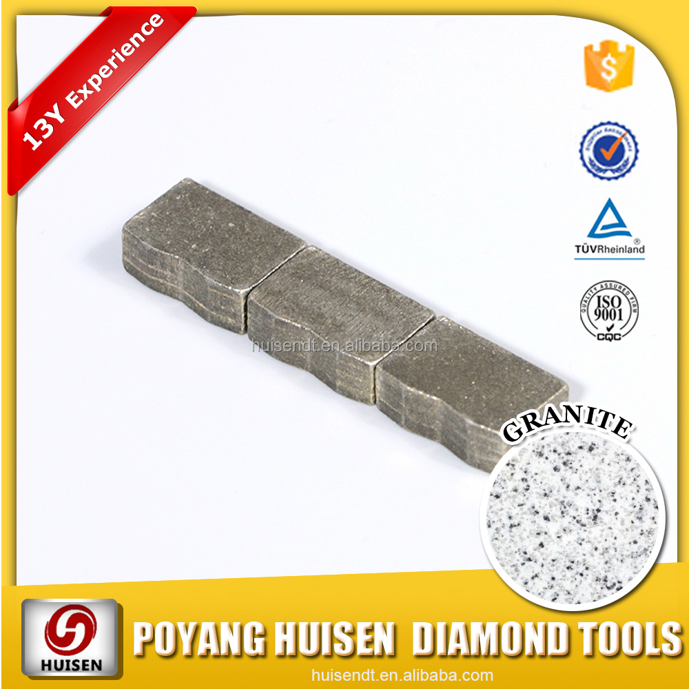 Huisen Diamond Tools high speed Iran granite cutting diamond segment for 1600mm saw blade