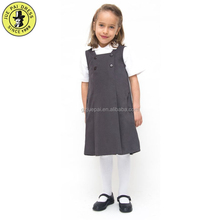 2018 New Design Girls School Uniforms Cheap Price Pinafore Style School Uniform