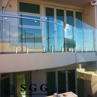 glass balcony railings screens panels