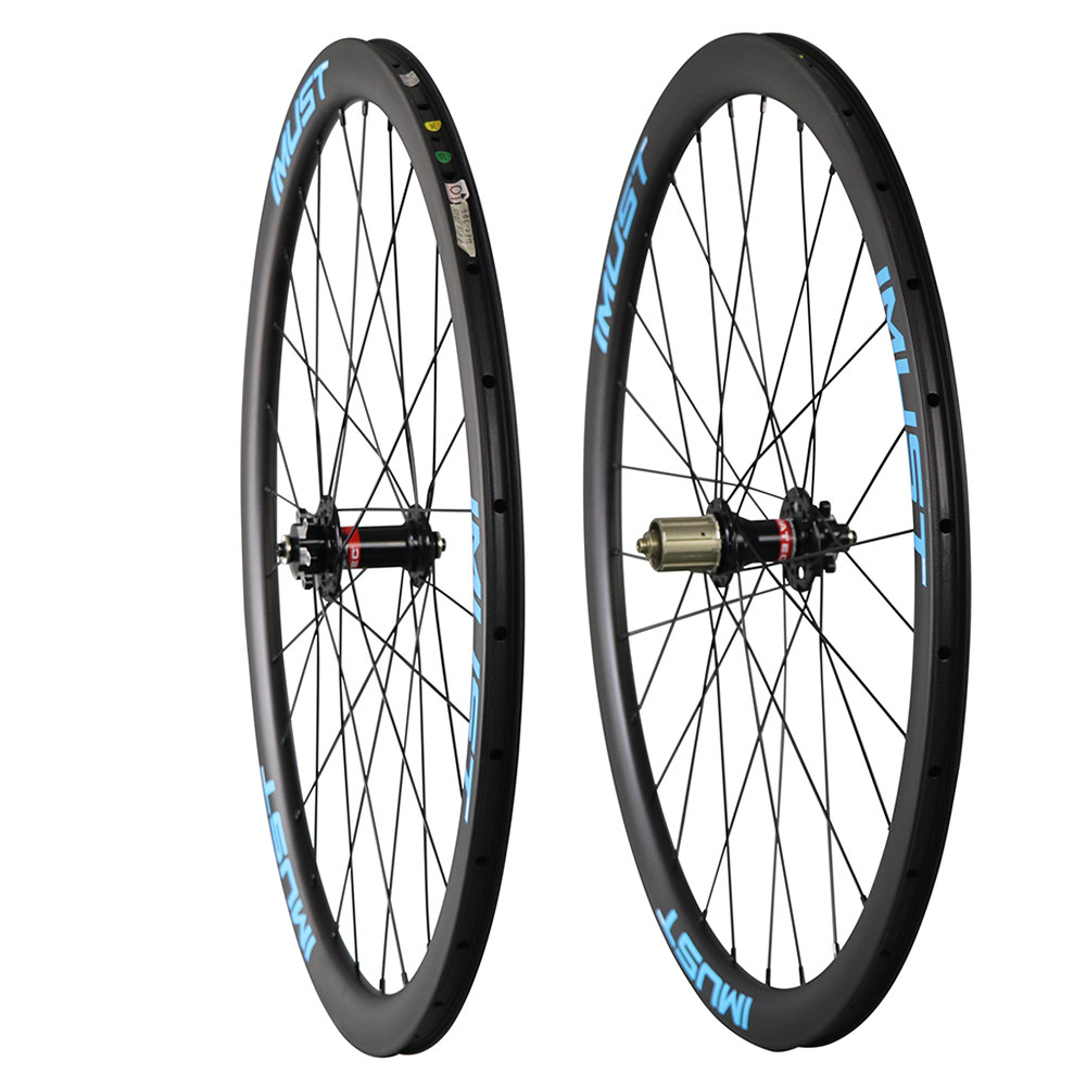 38mm 25mm width clincher tubuless carbon cyclocross wheelsets disc brake 700C disc road wheelsets