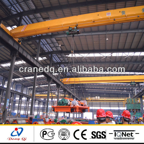 Warehouse used Electric Single Beam 15ton overhead crane sale in dubai
