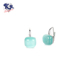 Cushion One Stone Clip On Earring Logo Pendant Christmas Jewelry Set Earring 925 Silver