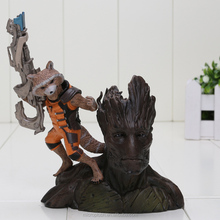 14cm Guardians of the Galaxy Groot & Rocket Raccoon PVC Action Figure Collectible Model <strong>Toy</strong>