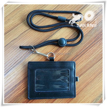 real genuine leather ID card holder