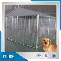 Bolts Connected Wire Mesh Outdoor Dog Kennel With Removable Roof