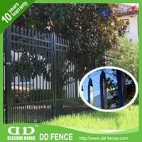 Black Wrought Iron Picket fence