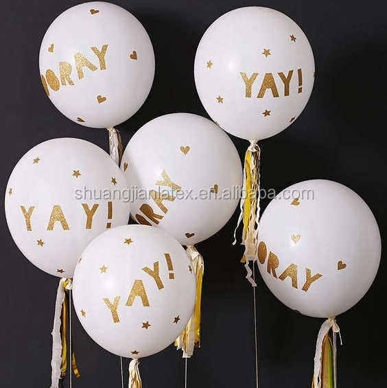 12 inch golden words Printing latex Balloons, golden words balloons for deocration