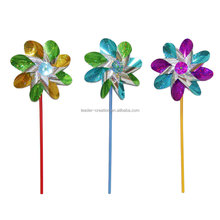 Leader-creation plastic flower windmill,PVC garden windmill