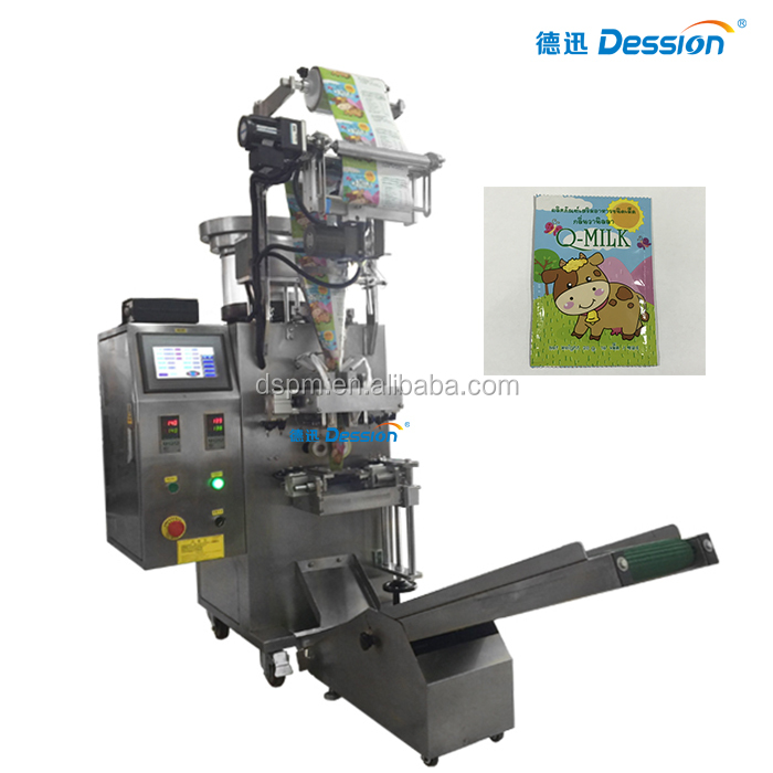 Single counting plate sachet candy tablet packing machine