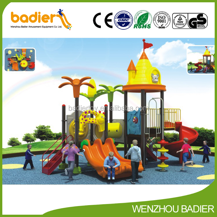 plastic outdoor kids playhouse/outdoor playground equipment