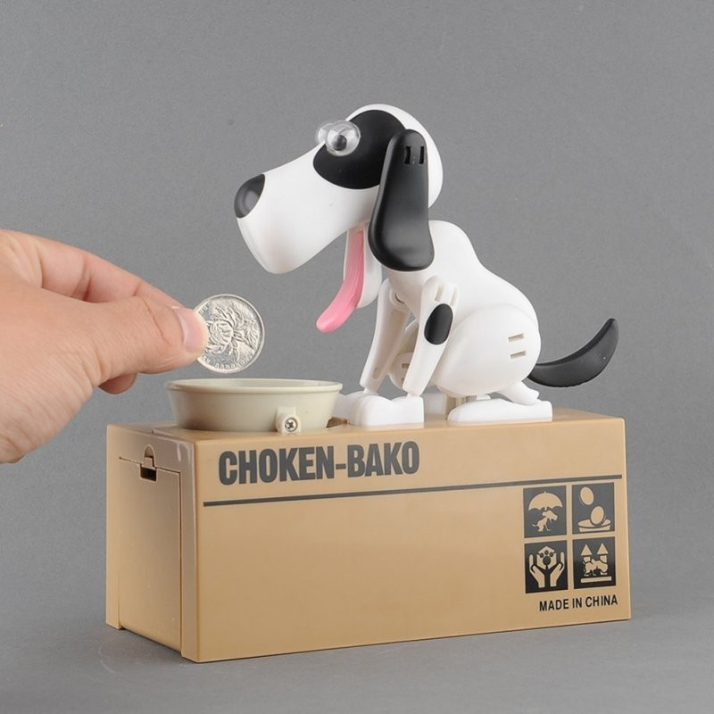 Dog Money Box Collection Piggy Bank Coin Bank Saving Box Catoon Puppy Hungry Robotic