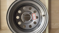 12*8.5inch ATV wheel Lawn and garden vehicle rims Trailer steel wheel 4*101.6 4*100 offroad steel rim wheels modular