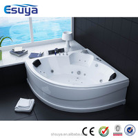 Two person cheap glass bathtub prices with massage whirlpool function