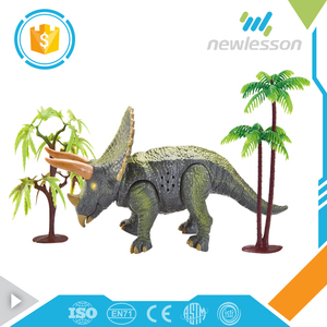 Triceratops dinosaur electric plastic jungle animal toys for children play
