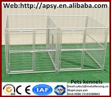 Gate with galvanized big animal mesh cages metal welded waterproof pens for large pets modular assembled strong dog run kennels
