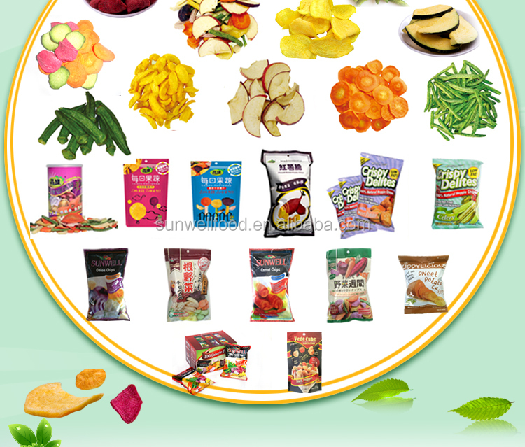 Freeze Dried Strawberry chips crisp snacks