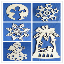 Small laser cut decorative religious wood craved appliques