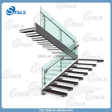 Size mounted railing Interior L shape stair indoor interior stair railings