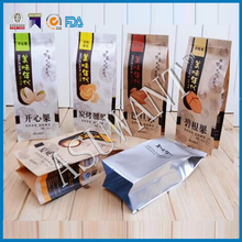 food grade custom printed full brown paper top side gusset bag for food packaging pistachios