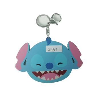 China factory promotional gift Stitch shape makeup mirror with keyring