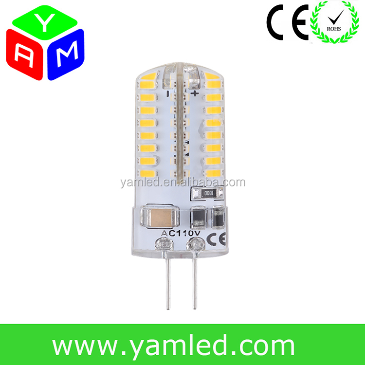 Wholesale LED Lighting High Quality 2.5W Silicon Cover LED G4 Bulb Lamp 3014 SMD G4 LED AC 110V Led G4
