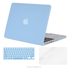 Promotional Airy Blue color scratch-resistant ultrabook hard shell mosiso plastic laptop skin cover case