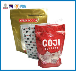 Small Plastic bags for Food packaging and Cookies Stand up pouches