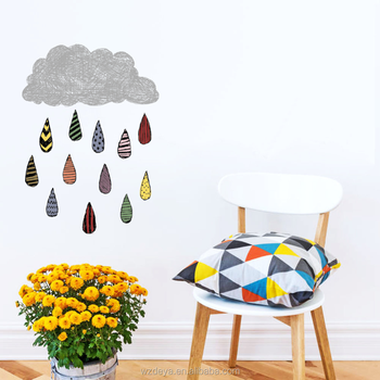 New Design Rain Vinyl Wall Sticker Nice For Your Home Decoration