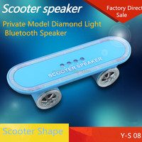 Fashion style fm radio mini mp3 player scooter shaped bluetooth speaker