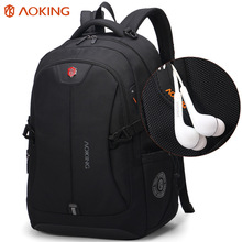 Business classic Laptop Backpack mens knapsack bag durable zaino mochilas