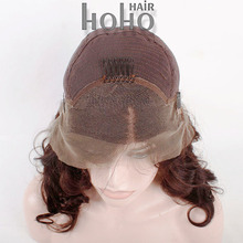 alibaba wholesale brown color curly women 100 full lace human hair wigs