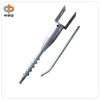 Galvanized U type foundation ground screw anchor manufacturer