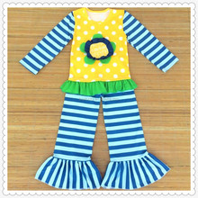 2015 latest girls real photos clothing sets infant clothing set clothes kids outfits for stripes pant children clothing