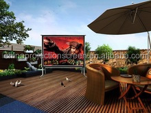 Wall or ceilling mounting ,outdoor/indoor electric projector screen