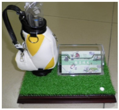 Golf Pen Holder With Watch And Card Desk Golf Set wholesale cheap price