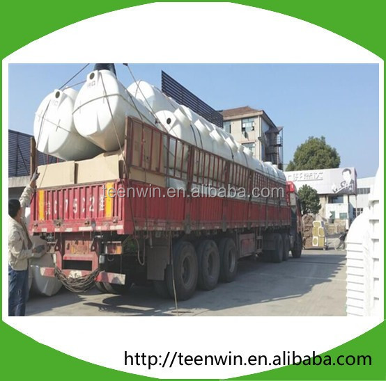 Mobile water treatment plant septic tank system