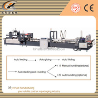 automatic folder gluer corrugated cardboard glue machine
