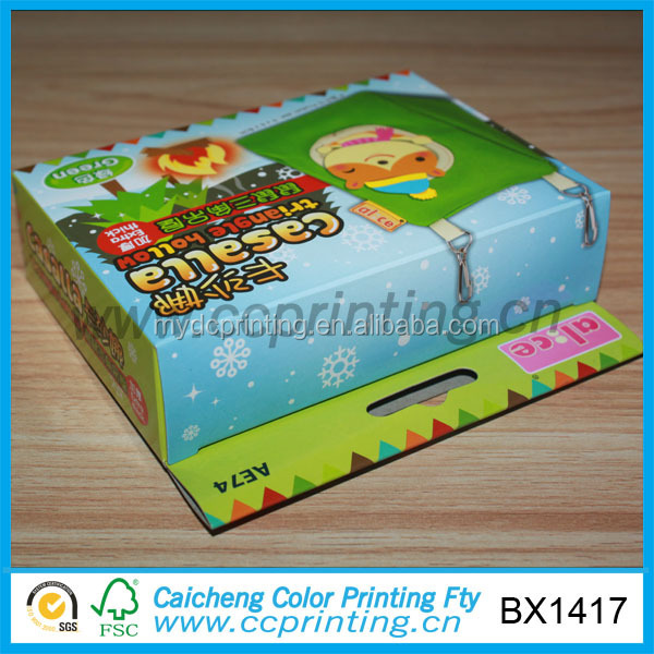 Mini die cut packaging carton box