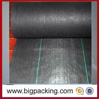 Agricultural black plastic ground cover/ PP woven geotextile fabric/PP woven plastic cover