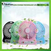 Easy take outdoor mini plastic fan blade portable electric rechargeable hand usb fan for promotion