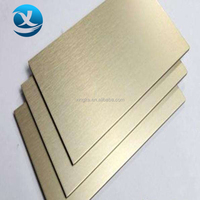 Polyester core exterior brushed aluminum composite panel acp sheet plate for wall cladding decoration use