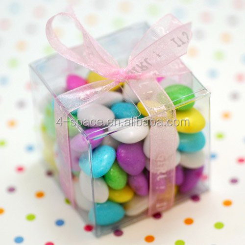 Custom handmade clear small acrylic box plastic mini candy box wedding party gift box with lid