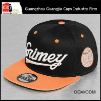 Guangjia Cap Factory Wholesale Cheap Price Custom Hip Hop Flat Brim Peaked Cap