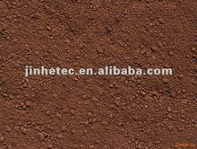 Coloured powders iron oxide brown for colored mulch